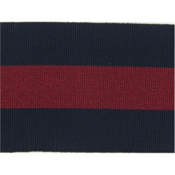 Guards & Household Cavalry Badge Backing (50 X 63mm) Blue/Maroon/Blue  Ribbon Badge Backing