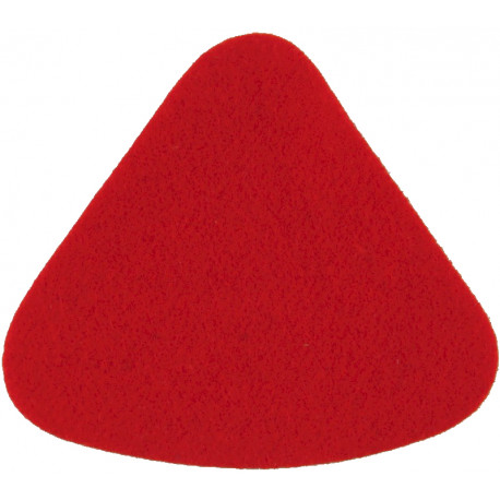 Duke Of Wellington's Regiment (West Riding) Rounded Red Triangle  Felt Badge Backing