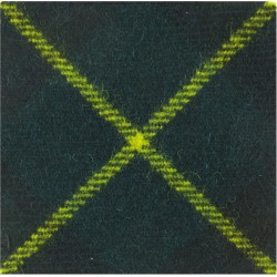 Devonshire & Dorset Regiment Grass Green 45mm Sq. Felt Cap Badge Backing