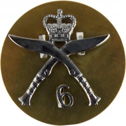 6th Queen Elizabeth's Own Gurkha Rifles (2-Part) Post-1959 With Crown with Queen Elizabeth's Crown. Chrome-plated Other Ranks' m