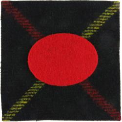 Royal Scots (The Royal Regiment) Tartan + Red Insert 1st Battalion  Tartan Badge Backing