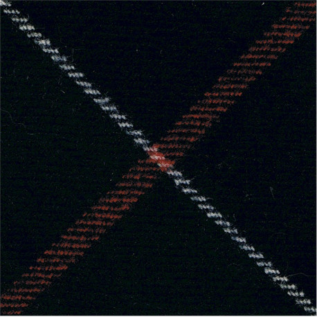 Royal Scots Dragoon Guards - Officers Black Badge-Shape Felt Badge Backing