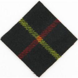Parachute Regiment - 15th Battalion (57mm Diamond) Hunting Stewart  Tartan Badge Backing