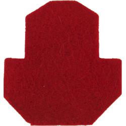 2nd King Edward VII's Own Gurkha Rifles Badge-Shaped - Red  Felt Badge Backing