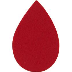 Queen Alexandra's Royal Army Nursing Corps Scarlet Tear-Drop  Felt Badge Backing