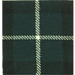 Cameronians (Scottish Rifles) (75mm Square) Douglas Tartan Tartan Cap Badge Backing