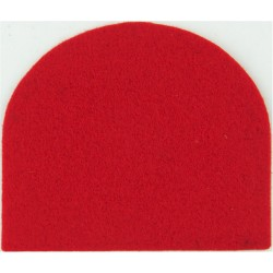 Royal Hussars & King's Royal Hussars Crimson Dome-Shape  Felt Badge Backing