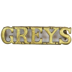 Greys (Royal Scots Greys (2nd Dragoons)) Post-1952  Brass Army metal shoulder title