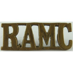 RAMC (Royal Army Medical Corps) 47.5mm Wide  Brass Army metal shoulder title