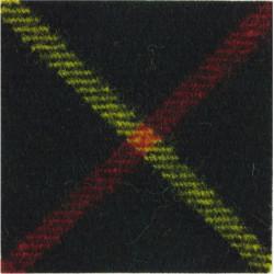 Royal Gurkha Rifles (57mm Square Worn On Felt Hat) Hunting Stewart  Tartan Badge Backing