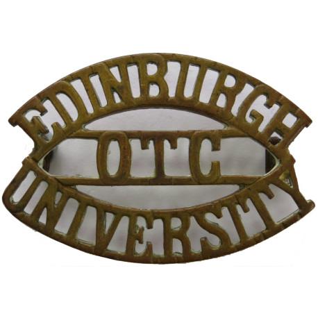 Edinburgh / OTC / University   Brass Army metal shoulder title