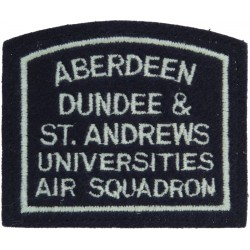 Aberdeen Dundee & St.Andrews University Air Squadron Shoulder Title  Embroidered Air Force Badge
