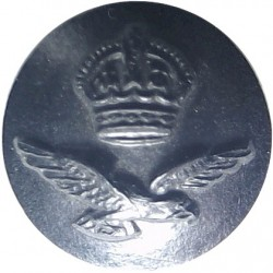 Royal Air Force (Rare Size - For Sidehat) 14mm - Black with King's Crown. Plastic Military uniform button