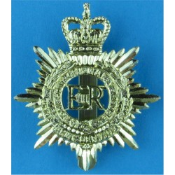 Royal Army Service Corps - EiiR - Gold Colour 1952-1965 with Queen Elizabeth's Crown. Anodised Staybrite army cap badge