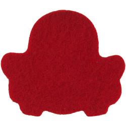 Queen's Royal Lancers - 1993-2015 Red Badge-Shape  Felt Badge Backing