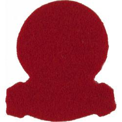 15th/19th King's Royal Hussars Red Badge-Shape  Felt Badge Backing