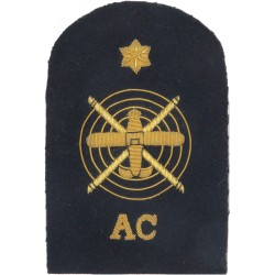 Aircraft Controller Plane & Helicopter + Star + AC Trade - Gold On Navy  Bullion wire-embroidered Naval Branch, rank or miscella
