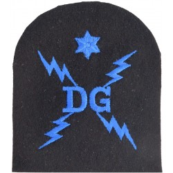 WRNR Degaussing (DG In 4 Lightning Flashes) + 1 Star Trade: Blue On Navy  Embroidered Naval Branch, rank or miscellaneous insign