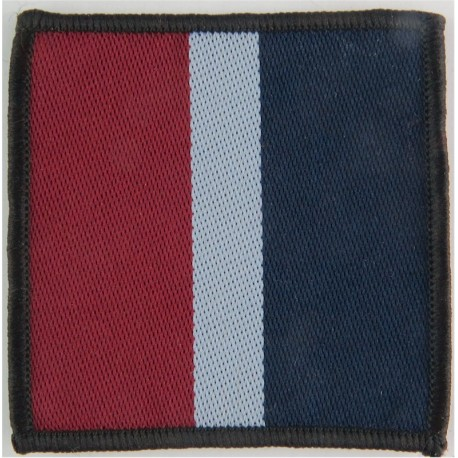 16 Air Assault Brigade - Royal Air Force - Large Red/Sky Blue/Blue  Woven Parachute DZ (Drop-Zone) Patch