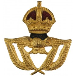 Royal Air Force Warrant Officer Beret Size Pre-1952 with King's Crown. Gilt and enamel Air Force Badge