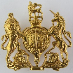 WO1 (RSM) Rank Badge  with Queen Elizabeth's Crown. Brass Warrant Officer rank badge