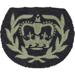 ATC Cadet Warrant Officer (Crown In Wreath) 1958-72 On RAF Blue-Grey with Queen Elizabeth's Crown. Embroidered Air Force Rank Ba