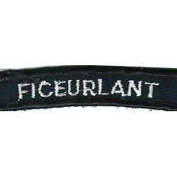 US Navy Shoulder Title - FICEurlant White On Navy UIM  Embroidered Naval Branch, rank or miscellaneous insignia