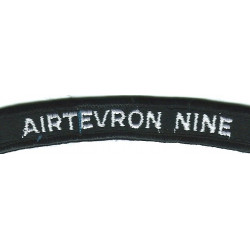 US Navy Shoulder Title - AirTEvron Nine White On Navy UIM  Embroidered Naval Branch, rank or miscellaneous insignia