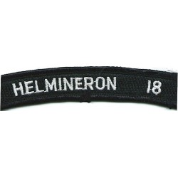 US Navy Shoulder Title - HelMineron 18 White On Navy UIM  Embroidered Naval Branch, rank or miscellaneous insignia