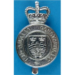 Mid-Anglia Constabulary Cap Badge 1965-1974 with Queen Elizabeth's Crown. Chrome-plated Police or Prisons hat badge
