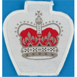Warrant Officer Class 2 - Australian Army On White with Queen Elizabeth's Crown. Woven Warrant Officer rank badge