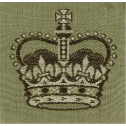 Warrant Officer Class 2 - Australian Army On Stone with Queen Elizabeth's Crown. Woven Warrant Officer rank badge