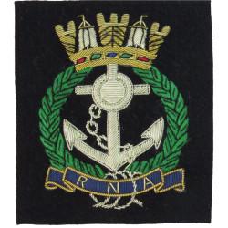 Royal Naval Association   Bullion wire-embroidered Military Blazer Badge
