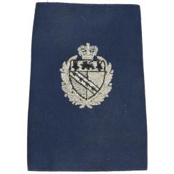 Norfolk Constabulary Shoulder Slide with Queen Elizabeth's Crown. Lurex UK Police or Prison insignia