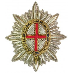 Coldstream Guards   Bullion wire-embroidered Officers' cap badge