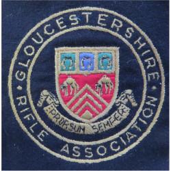 Gloucestershire Rifle Association   Embroidered Military Blazer Badge