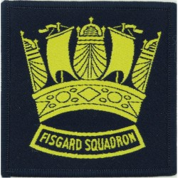 Fisgard Squadron Royal Navy Track-Suit Badge  Woven Track-Suit Badge