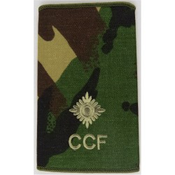 CCF Second Lieutenant (Combined Cadet Force) Rank Slide DPM Camo  Embroidered Officer rank badge