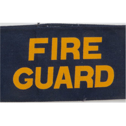 Fire Guard Armband Yellow On Navy Blue  Printed Arm-Band or Brassard