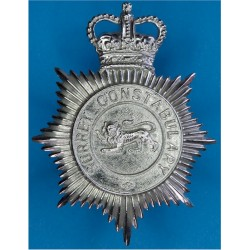 Surrey Constabulary - Lion Centre Helmet Star 1952-85 with Queen Elizabeth's Crown. Chrome-plated Police or Prisons hat badge