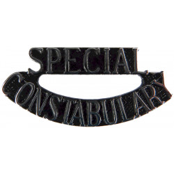 Special / Constabulary (Words In Full) Shoulder Title  Chrome and enamelled UK Police or Prison insignia