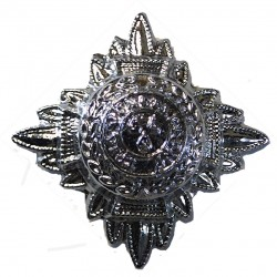 Inspector's Rank Star (pip) 19.5mm Side  Chrome-plated UK Police or Prison insignia