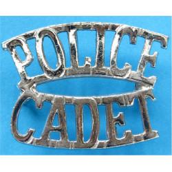 Police / Cadet Shoulder Title  Chrome-plated UK Police or Prison insignia