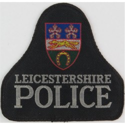 Leicestershire Police Pullover Badge Bell Shape + Crest  Woven UK Police or Prison insignia