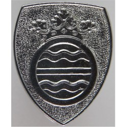Cambridgeshire Constabulary - Crest On Shield Collar Badge  Chrome-plated UK Police or Prison insignia