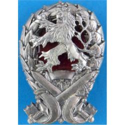 Czech Military Academy Breast Badge / Fob  Enamel