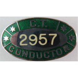 Coventry Transport Conductor's Lapel Badge Oval - Numbered  Enamel