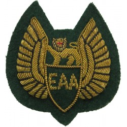 East African Airways Cap Badge 1946-1977  Bullion wire-embroidered