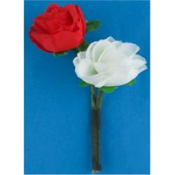 St.George's Day Roses - Royal Regiment Of Fusiliers Red And White  Nylon