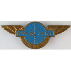 Pan Am Junior Clipper Stewardess Wings   Gilt and enamel